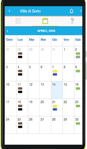 Calendario Rifiuti Screenshot Mese